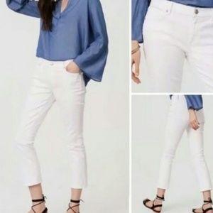 NEW White petite modern kick crop jeans